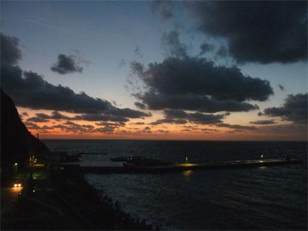 画題:2009年最後の夕暮れの桟橋 撮影者:野中路絵さん