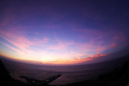 画題:桟橋と夕日 撮影者:佐藤重敬さん